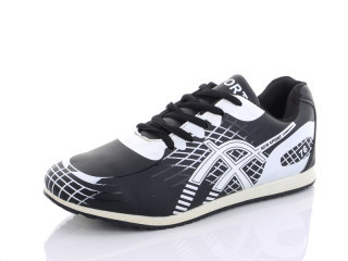 Кросівки жіночі Lion-9891 чорно-білий