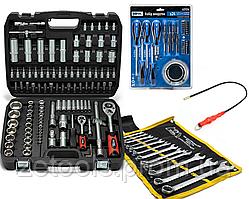 Набор инструмента на 108 ед. 61085+ набор ключей на полотне 12 ед+ отвертки 24 ед. + магнит в подарок