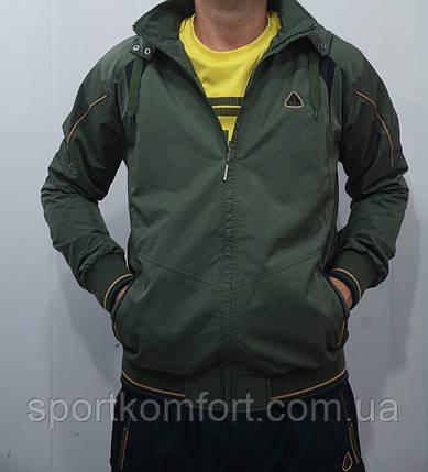 Прогулочный демисезонный костюм SOCCER Турция плащёвка брюки прямые цвет хаки размеры м л, фото 2