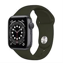 Ремінець силіконовий Sport Band 38mm | 40mm Coffee для Apple Watch SE | 6 | 5 | 4 | 3 | 2 | 1