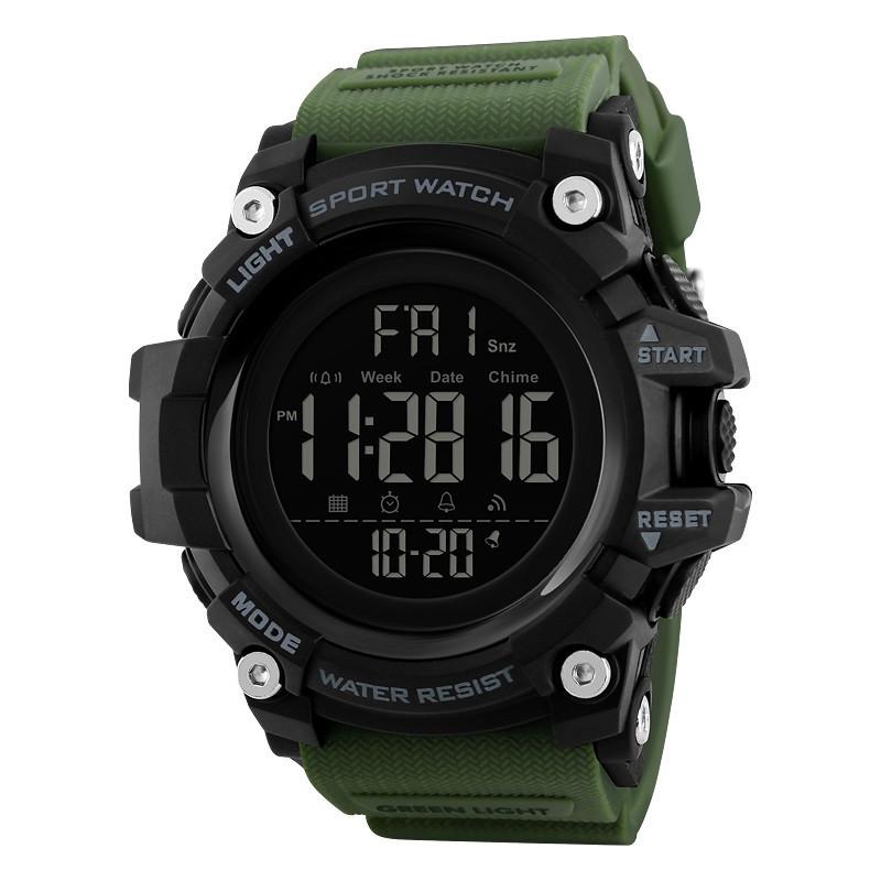 Skmei 1384 (2) зеленые мужские спортивные часы
