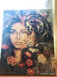 Картина по номерам Девушка и тигр.jpg