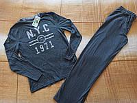 Домашний костюм трикотаж S 44-48 Германия пижама реглан и штаны