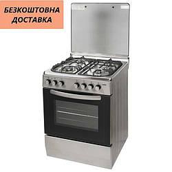 Кухонная плита Ventolux GE 6060 CS 6 SX 2 Нержавеющая сталь