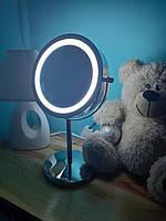 Косметичне дзеркало з LED підсвічуванням d=15см Eco Fabric (TRL0403-15LED)