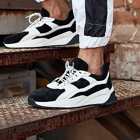 Кросівки чоловічі замшеві Гармата Вогонь Step чорно-білі