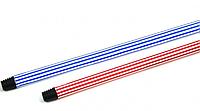 Ручка для мітли, швабри Metalstick прогумована, 120см * 0,23 мм, блакитно-біла (120REZ-B-RO)