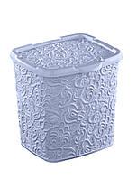 """Контейнер для порошку Elif """"Ажур"""" 6л, 20.5*23*23см, блакитний (383-7)"""