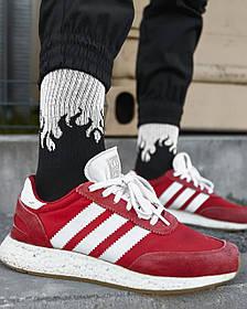 Довгі шкарпетки Гармата Вогонь - Round чорно-сірі
