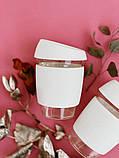 Стеклянный кофейный стакан Sip 350 мл Белый, фото 5