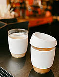 Стеклянный кофейный стакан Sip 350 мл Белый, фото 6