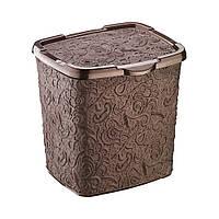 Контейнер для порошку Elif Ажур 6л, 20,5*23*23см, коричневий (383-5)