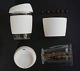 Стеклянный кофейный стакан Sip 350 мл Белый, фото 9