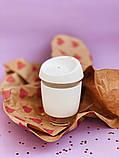Стеклянный кофейный стакан Sip 350 мл Белый, фото 10