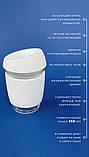 Стеклянный кофейный стакан Sip 350 мл Белый, фото 2