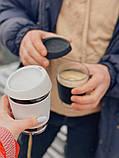Стеклянный кофейный стакан Sip 350 мл Белый, фото 3