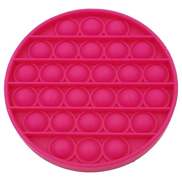 """Іграшка-антистрес """"Pop It/ Поп Іт"""" рожевий коло"""