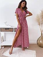 """Сукня жіноча молодіжне на запах, розміри 42-52 (2цв)""""IRINA"""" купити недорого від прямого постачальника"""