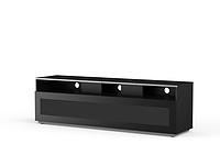 Тумба під телевізор Meliconi MYTV 16*40, скляні дверцята, чорний (500407_BA)