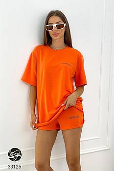 Яркий женский комплект из шорт и футболки с 42 по 48 размер