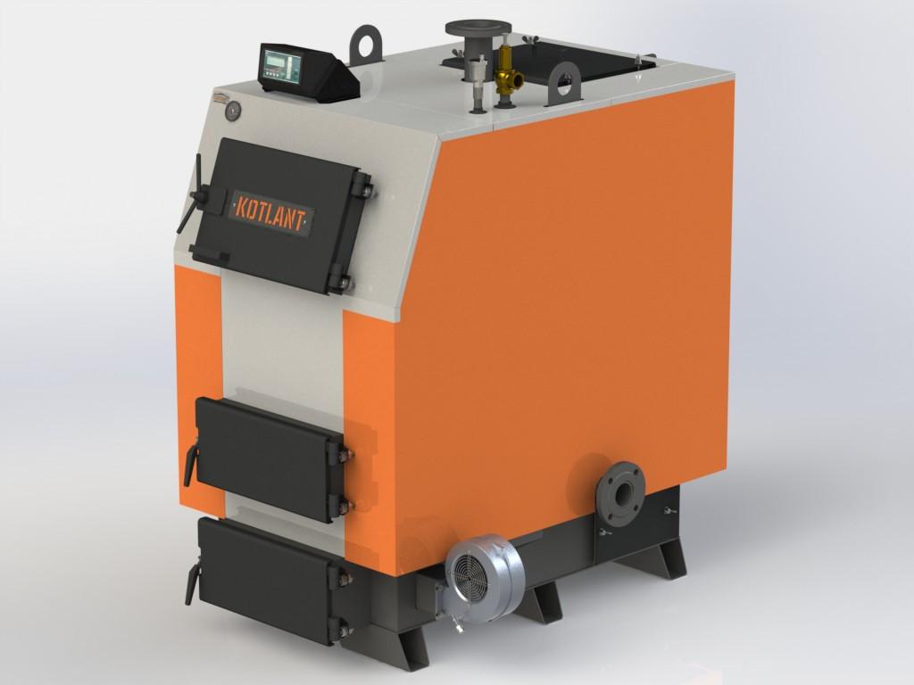 """Твердопаливний котел KOTLANT КВ-80 з електронною автоматикою """"TECH"""" c функцією zPID"""