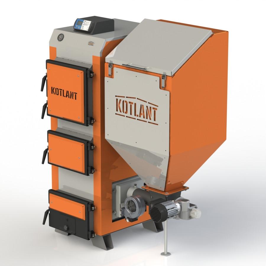 Твердопаливний котел KOTLANT КГП-25 з електронною автоматикою та вентилятором