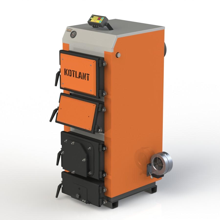 """Твердопаливний котел KOTLANT КДУ-16 з електронною автоматикою """"TECH"""" c функцією zPID"""