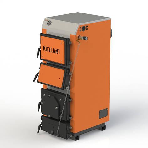 Твердопаливний котел KOTLANT КДУ-40 з механічним регулятором тяги, фото 2