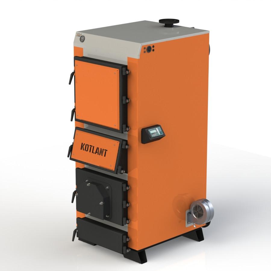 Твердопаливний котел KOTLANT КДУ-50 з електронною автоматикою та вентилятором