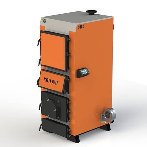 Твердопаливний котел KOTLANT КДУ-50 з електронною автоматикою та вентилятором, фото 2