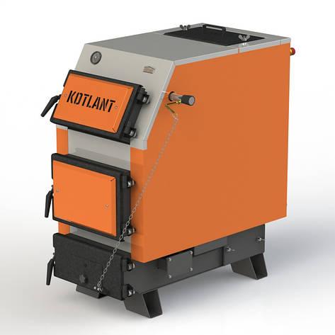 Твердопаливний котел KOTLANT КВУ-25 з механічним регулятором тяги, фото 2