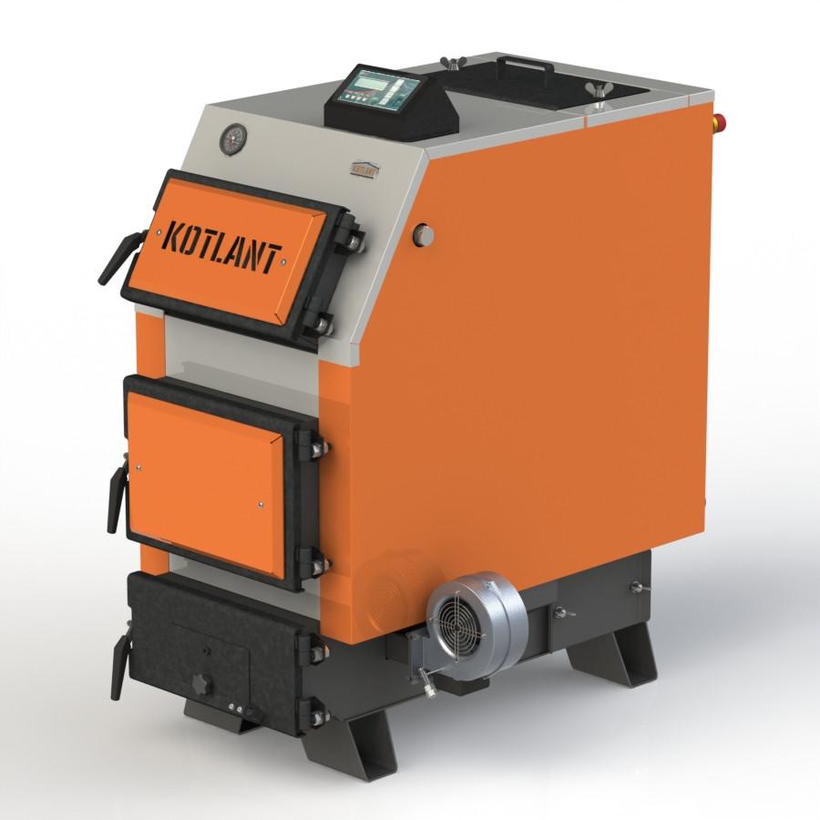 Твердотопливный котел KOTLANT КВУ-25 с электронной автоматикой и вентилятором