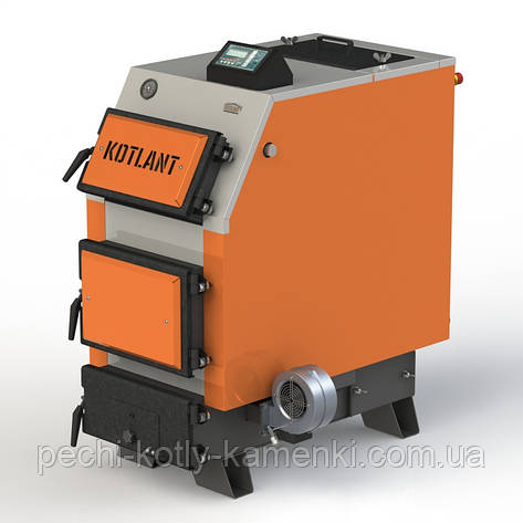 Твердотопливный котел KOTLANT КВУ-25 с электронной автоматикой и вентилятором, фото 2