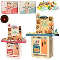 Дитяча ігрова кухня з парою, водою, аксесуарами і звуковими ефектами 889-151-152, блакитна, рожева