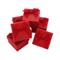 Коробочка для ювелирных изделий 50х50х35 Красный
