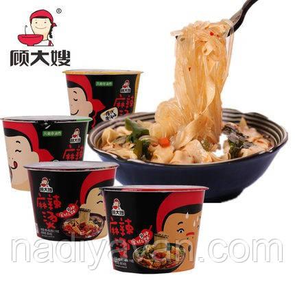 Крохмальна рисова вермішель і локшина зі спеціями, смак яловичина швидкого приготування 119г з Gudasao, фото 2