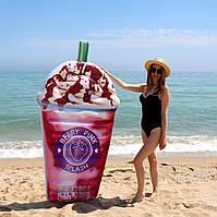 Матрац надувний Intex Ягідний Коктейль (Berry Pink White) арт.58777. Відмінно підходить для моря, басейну