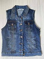 Жіноча джинсова жилетка молодіжна, фото 1