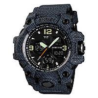 Skmei 1155 B (2) hamlet темний джинс чоловічі спортивні годинник, фото 1