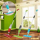 Спрей швабра с распылителем Healthy spray mop Умная швабра-лентяйка с микрофиброй 3 в 1, фото 6