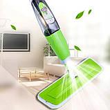Спрей швабра с распылителем Healthy spray mop Умная швабра-лентяйка с микрофиброй 3 в 1, фото 4