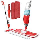 Спрей швабра с распылителем Healthy spray mop Умная швабра-лентяйка с микрофиброй 3 в 1, фото 9