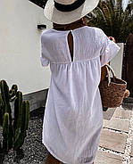 Легке повітряне плаття вільного крою, 00996 (Білий), Розмір 42 (S), фото 2
