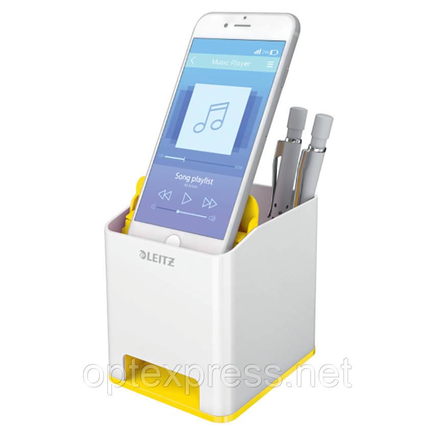 Подставка для ручек и смартфона Leitz WOW. Жовта