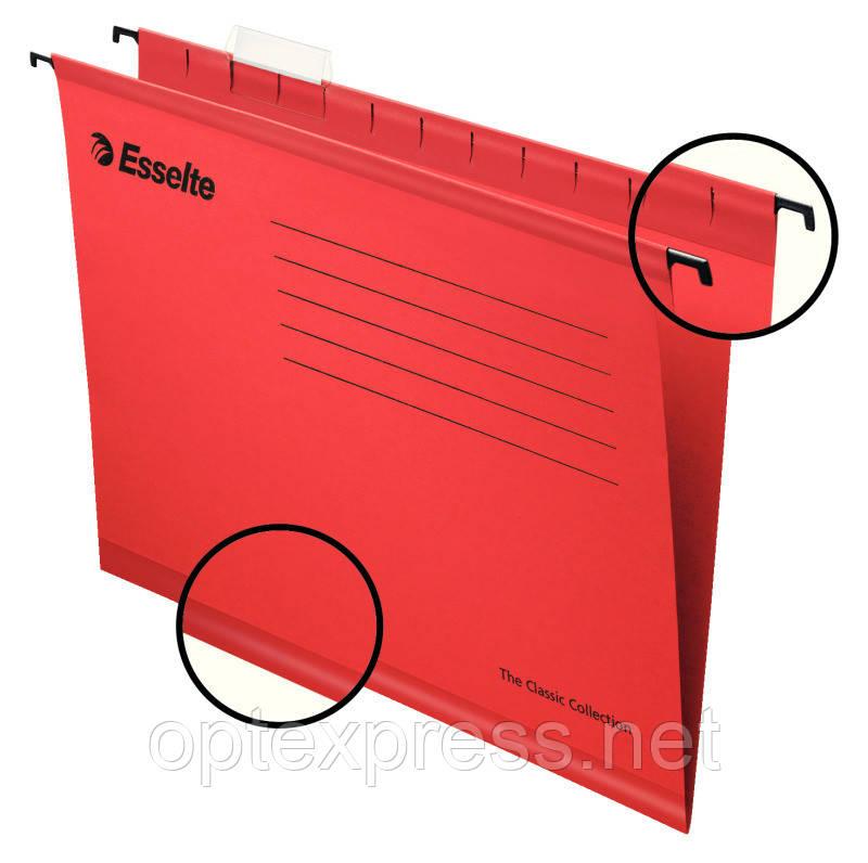 Подвесная папка Esselte Classic. Красная