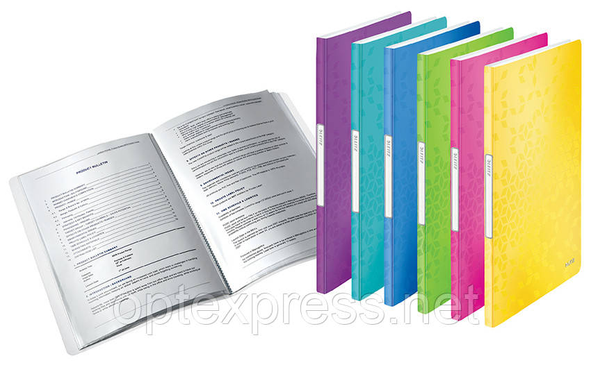Папка з 20 файлами Leitz WOW