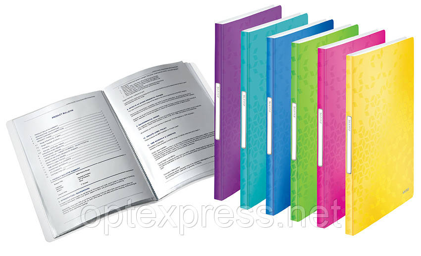 Папка с 40 файлами Leitz WOW