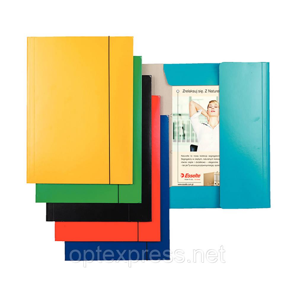 Картонная папка на резинке с тремя клапанами Esselte