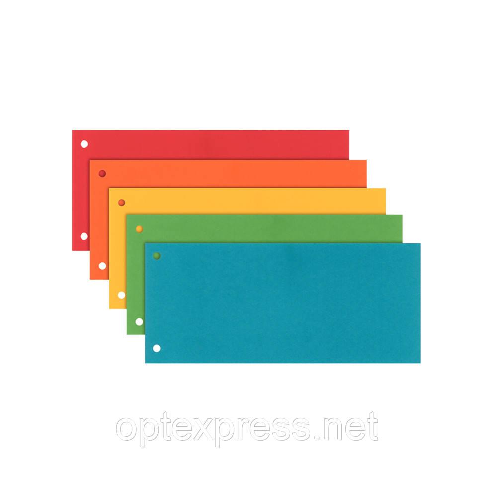 Картонні кольорові закладки Esselte Assorted. 240х105