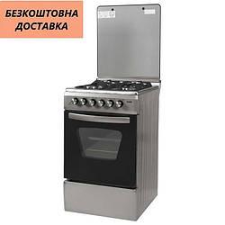 Кухонная плита Ventolux GE 5060 CS 6 SX 2 Нержавеющая сталь